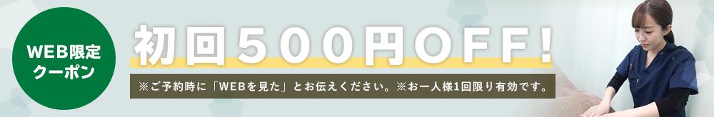 初回限定WEBを見たで500円オフ